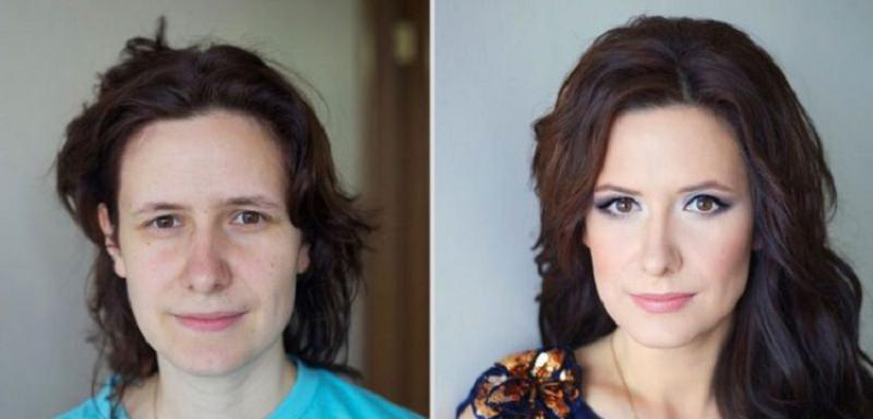 18 немыслимых превращений девушек с помощью макияжа.