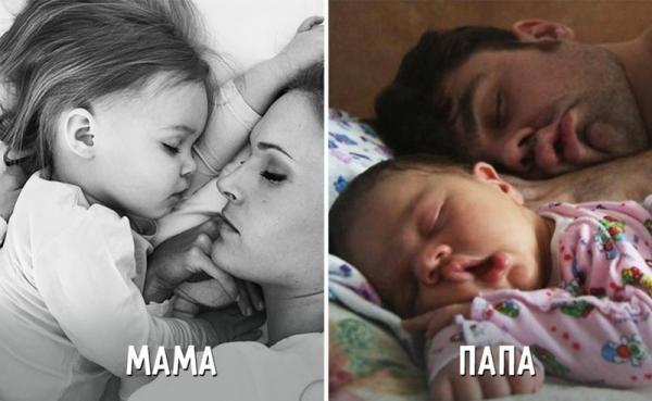 Как воспитывают детей мамы и папы