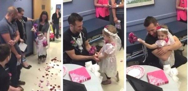 4-летняя девочка, болеющая раком, «вышла замуж» за медбрата