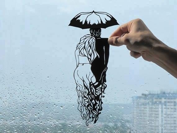 Невероятные рисунки из бумаги