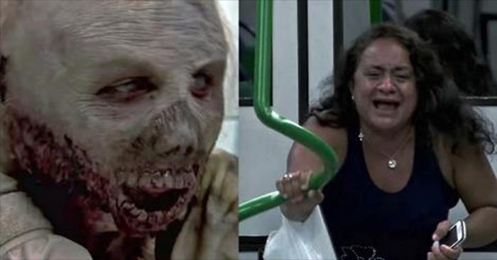 Зомби апокалипсис в бразильском метро