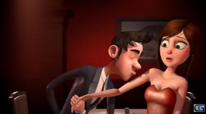 Шикарная короткометражка о том, что творится у мужчины в голове на первом свидании