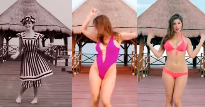 Как менялось мода на купальные костюмы с 1980 годов.