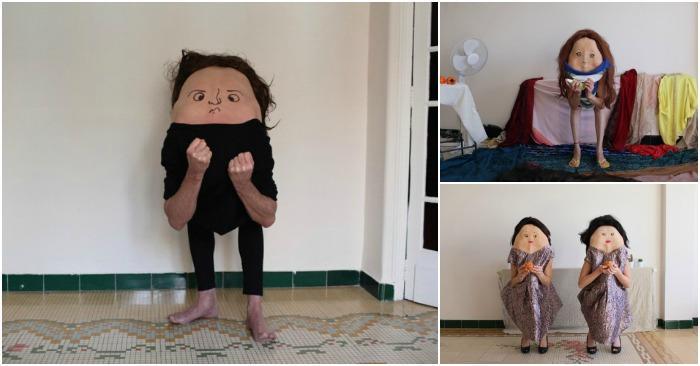 Фотограф нарисовал на спинах людей рожицы... получилось как-то неоднозначно!