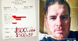 Официант получил $500 чаевых при сумме заказа в 37 центов