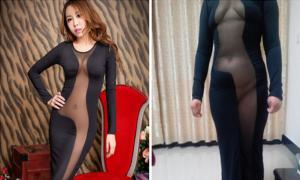 Она купила знаменитое платье в интернете, смотрите что она получил