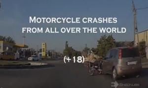 Аварии мотоциклов со всего мира (16+)
