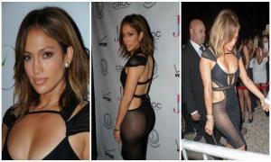 Дженнифер Лопес отметила 46-летие в откровенном полупрозрачном платье