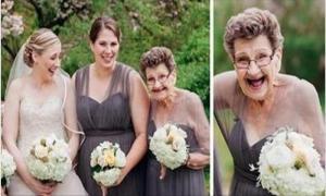 Внучка захотела, чтобы на свадьбе любимая бабушка была подружкой невесты. Старушка дала жару!