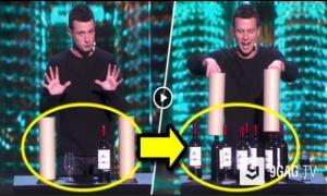 Невероятный фокус с бутылками вина